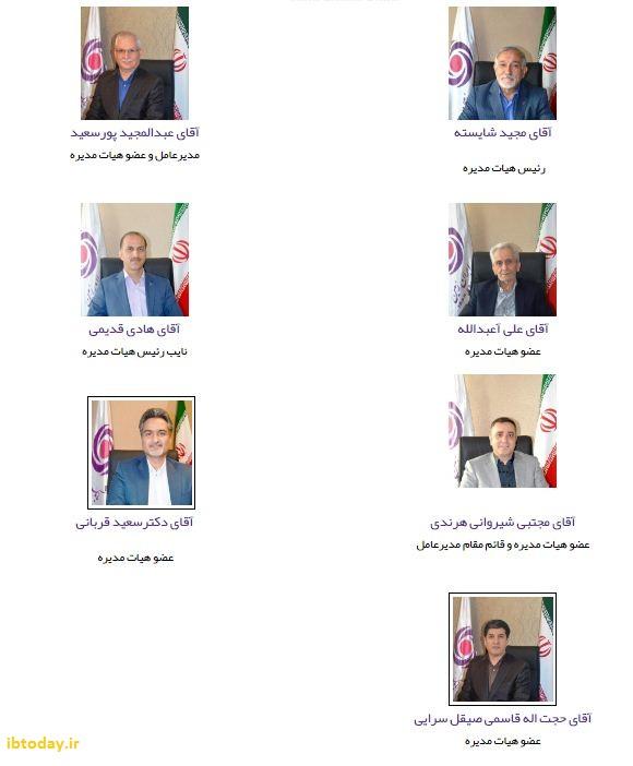 هیات مدیره بانک ایران زمین
